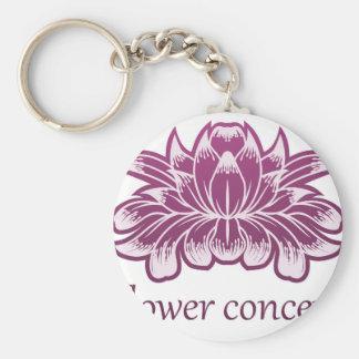 Porte-clés Icône de concept de construction florale de fleur