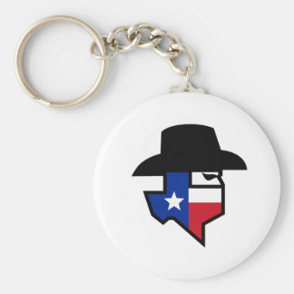 Porte-clés Icône de drapeau du Texas de bandit