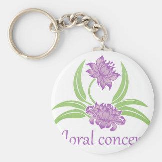 Porte-clés Icône florale de fleur