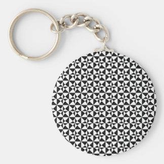Porte-clés iIllusion géométrique noir et blanc