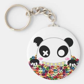 Porte-clés Ijimekko le panda - crânes de sucre