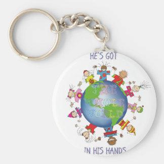 Porte-clés Il a le monde entier dans des ses mains