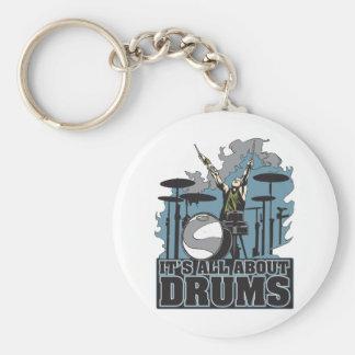 Porte-clés Il est tout au sujet des tambours