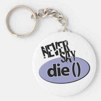 Porte-clés Il ne faut jamais jeter le manche après la cognée