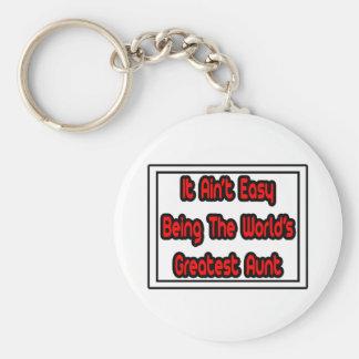 Porte-clés Il tante… du monde facile d'Aint la plus grande
