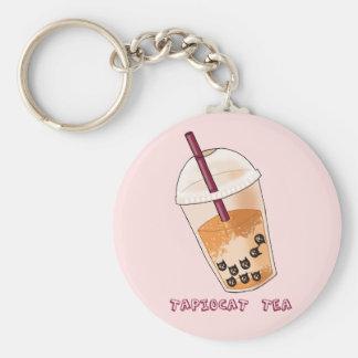 Porte-clés Illustration de calembour de thé de Tapiocat