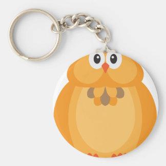 Porte-clés Illustration de hibou de couleur d'automne de