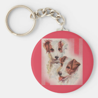 Porte-clés Illustration MIGNONNE de terriers de Jack Russell