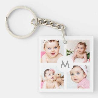 Porte-clés Images faites sur commande du blanc 4 de