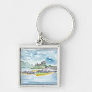 Porte-clés Imaginaire de montagnes de l'Ecosse et château