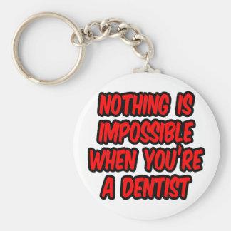 Porte-clés Impossible n'est pas français… dentiste