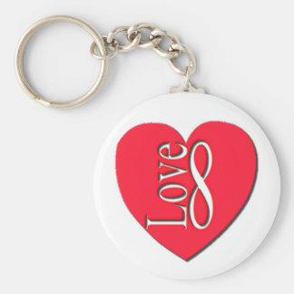 Porte-clés Infini de l'amour de coeur (8)
