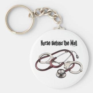 Porte-clés Infirmière derrière le porte - clé correctionnel