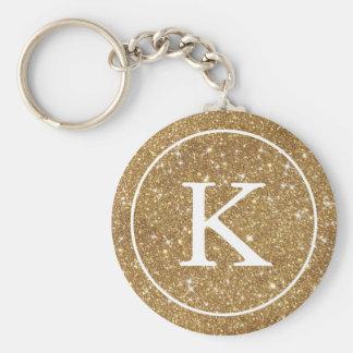 Porte-clés Initiale de monogramme du cercle | de