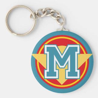 Porte-clés Initiale faite sur commande de la lettre M de