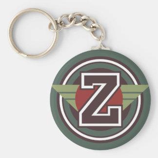 Porte-clés Initiale faite sur commande de la lettre Z de