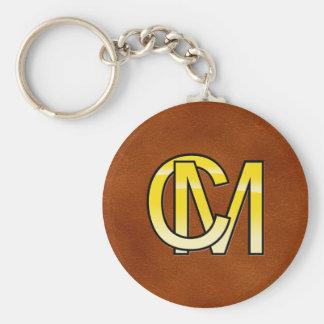 Porte-clés initiales  C et M en or