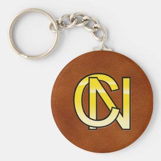 Porte-clés initiales  C et N en or