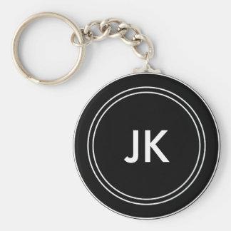 Porte-clés Initiales nommées de monogramme