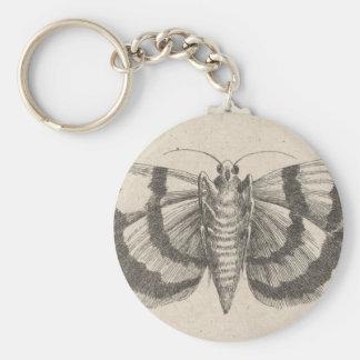 Porte-clés Insecte vintage de lépidoptères d'entomologie de