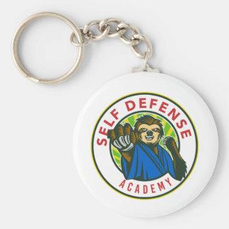 Porte-clés Insigne d'autodéfense de karaté de paresse