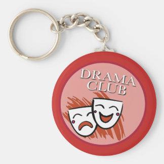 Porte-clés Insigne de club de drame en rouge