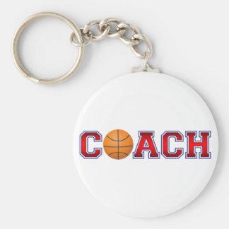 Porte-clés Insignes gentils de basket-ball d'entraîneur