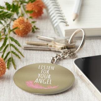 Porte-clés Inspiré détectez à l'oreille votre citation d'ange