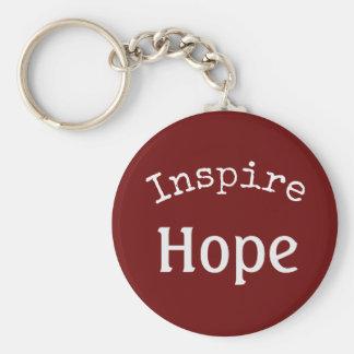 Porte-clés Inspirez le porte - clé d'espoir