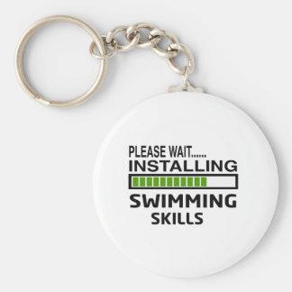 Porte-clés Installation des qualifications de natation