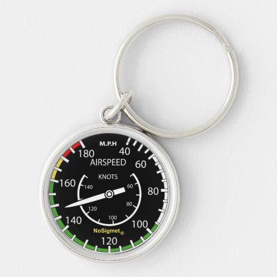 """Porte-clés instrument de bord avion : """"Anémomètre"""""""