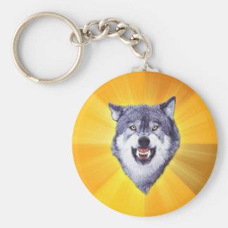 Porte-clés Internet animal Meme de conseil de loup de courage