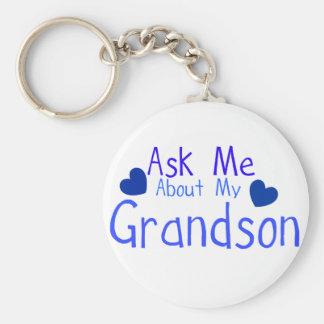 Porte-clés Interrogez-moi au sujet de mon petit-fils !