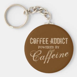 Porte-clés Intoxiqué de café actionné par des porte - clés de