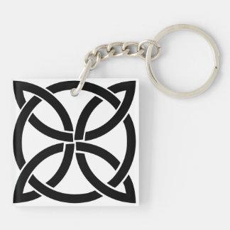 Porte-clés Irlandais païen de noeud de symbole antique