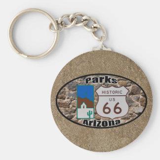 Porte-clés Itinéraire historique 66~Parks, Arizona des USA