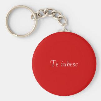 Porte-clés Iubesc de Te dans le porte - clé rouge et blanc