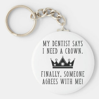 Porte-clés J'ai besoin d'une couronne