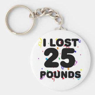 Porte-clés J'ai perdu 25 livres de partie
