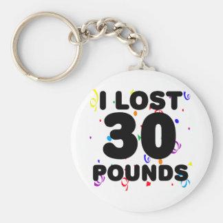 Porte-clés J'ai perdu 30 livres de partie