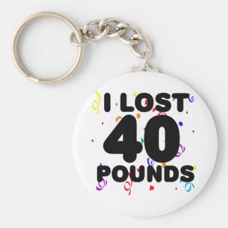 Porte-clés J'ai perdu 40 livres de partie