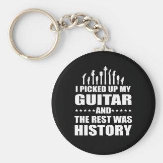 Porte-clés J'ai pris la guitare et le repos était histoire