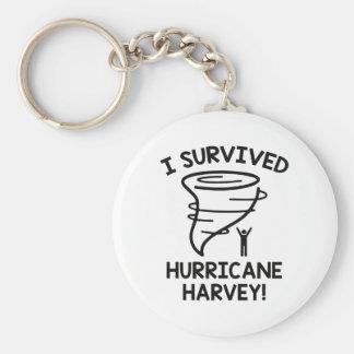 Porte-clés J'ai survécu à l'ouragan Harvey