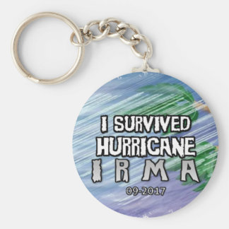 Porte-clés J'ai survécu à l'ouragan Irma