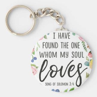 Porte-clés J'ai trouvé celui qui mon âme aime le porte - clé