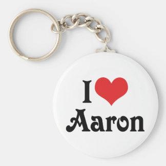 Porte-clés J'aime Aaron