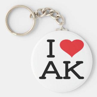 Porte-clés J'aime AK - coeur - porte - clé