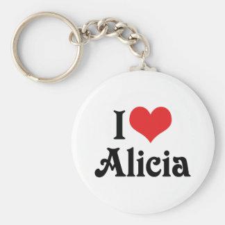 Porte-clés J'aime Alicia