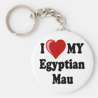 Porte-clés J'aime (coeur) mon chat égyptien de Mau