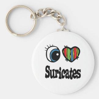 Porte-clés J'aime (coeur) Suricates